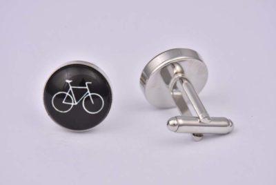 Bicycle Black Cufflinks