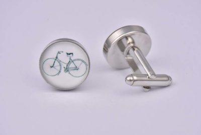 Bicycle White Cufflinks
