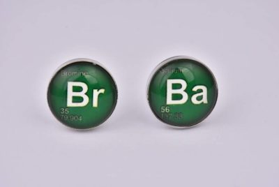 Breaking Bad Chemical Symbols Green Cufflinks