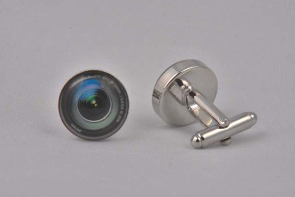 Camera Lens Black Cufflinks