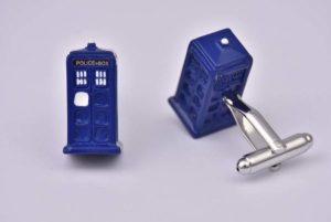 Dr Who Tardis Cufflinks