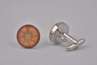 Orange Sundial Cufflinks