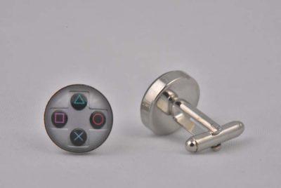 Silver Playstation 4 controller cufflinks
