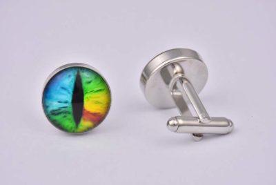 Rainbow Eye Cufflinks