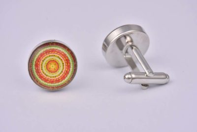 Red Mandala Cufflinks