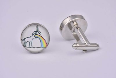 Sick Rainbow Unicorn Cufflinks