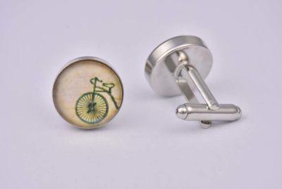 Vintage Bicycle Cream Cufflinks