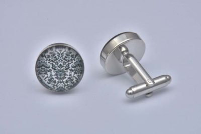 Black Damask Cufflinks