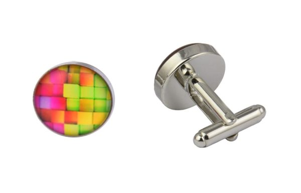 Abstract Bricks Cufflinks