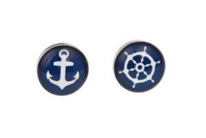 Anchor and Wheel Cufflinks