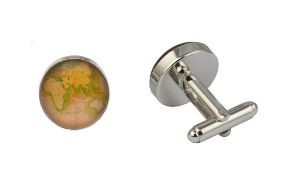Antique Style World Map Cufflinks