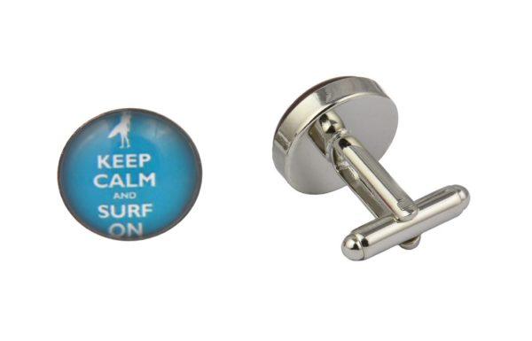 Keep Calm And Surf On Cufflinks