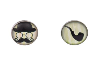 Moustache and Pipe Cufflinks