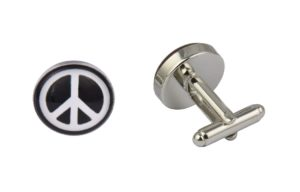 Peace Logo Cufflinks