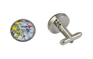 Salem Map Cufflinks