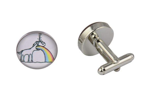 Sick Rainbow Unicorn Cufflinks