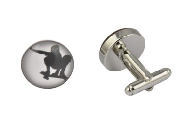 Skateboarder Cufflinks
