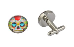 Blue Diamond Skull Cufflinks