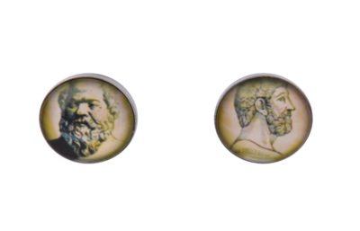 Socrates Plato Cufflinks