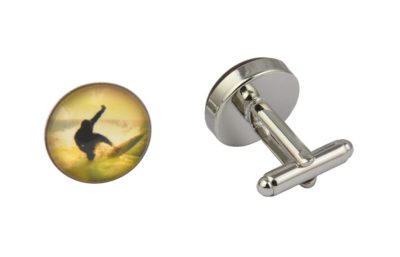 Yellow Surfer Cufflinks