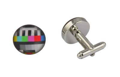 TV Test Card Cufflinks