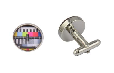 TV Test Card Retro Cufflinks