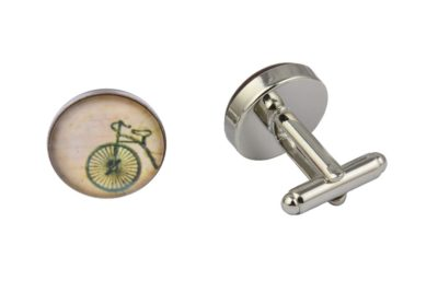 Vintage Cream Bicycle Cufflinks