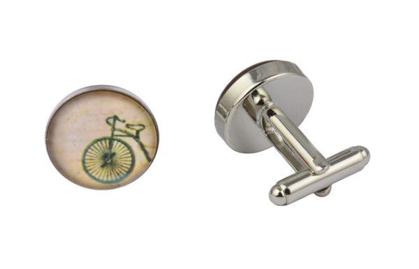 Vintage Cream Bicycle Cufflinks