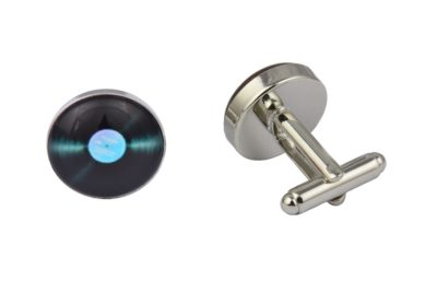 Blue Vinyl Record Cufflinks