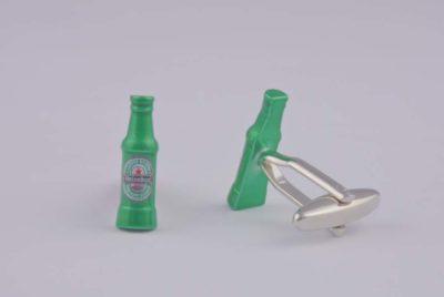 Beer Bottle Green Cufflinks