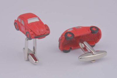 Beetle Car Red Cufflinks