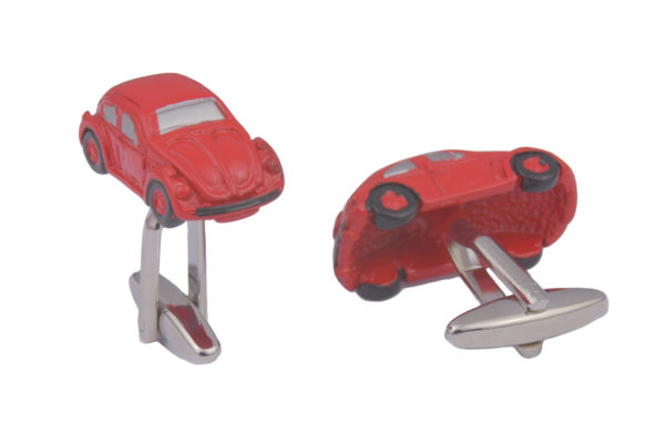 Beetle Car Red Cufflinks