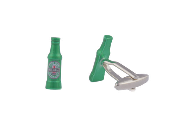 Beer Bottle Green Cufflinks