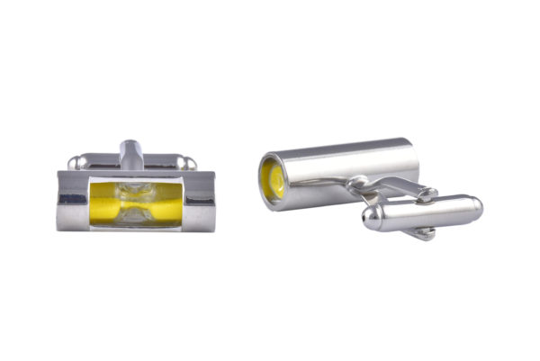 Yellow Hourglass Cufflinks