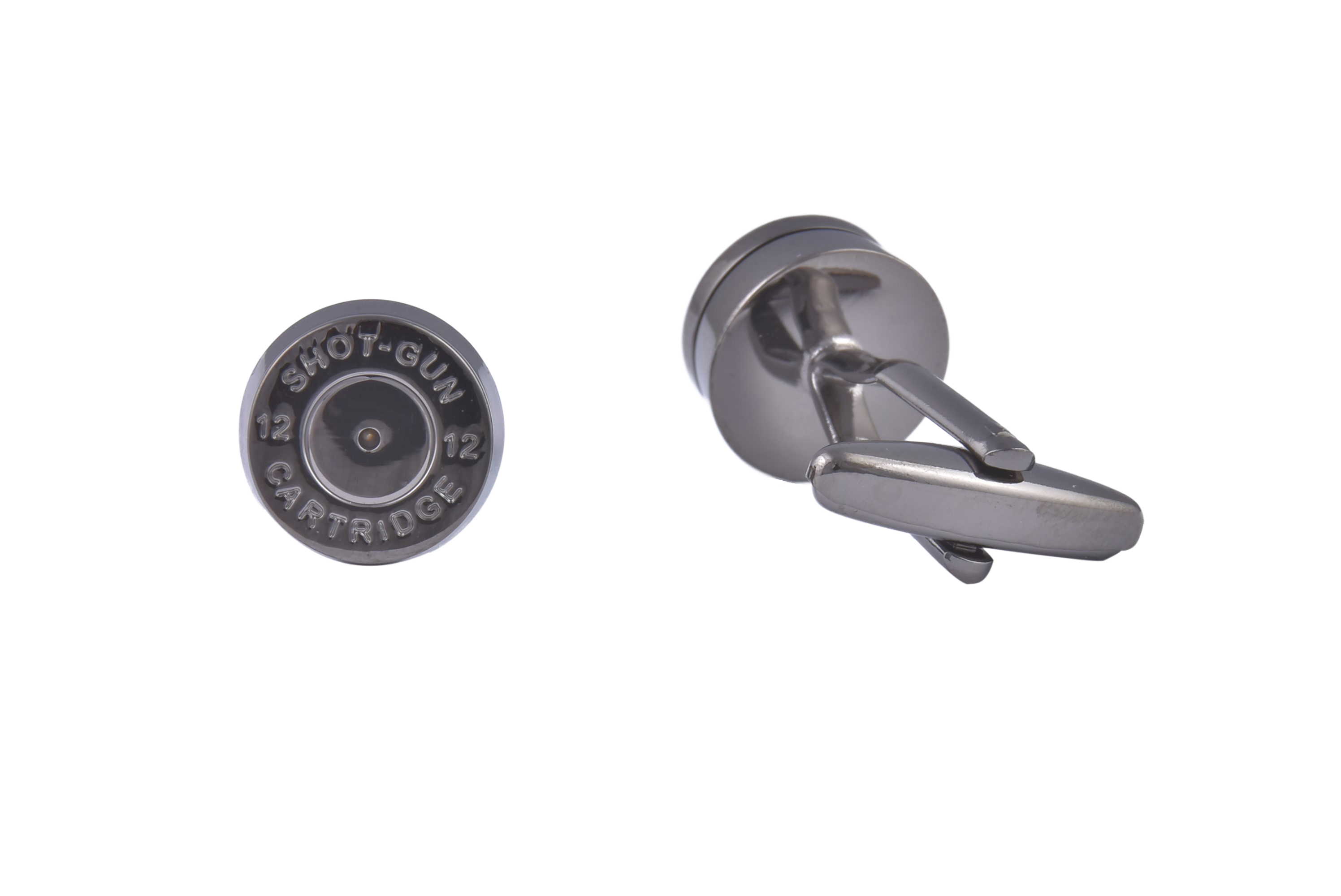 Shotgun Cartridge Pellet Silver Cufflinks