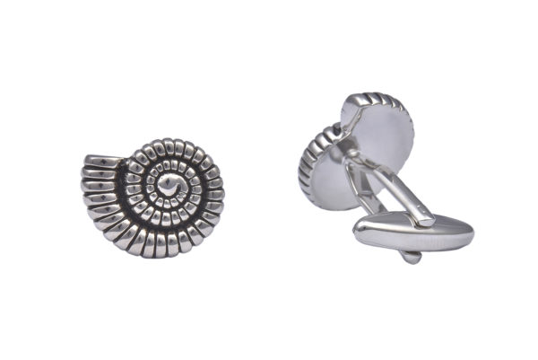 Ammonite Fossil Cufflinks