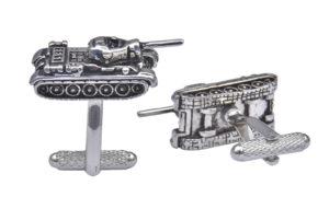 Tank Silver Cufflinks
