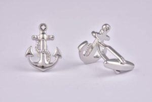 Anchor Silver Cufflinks