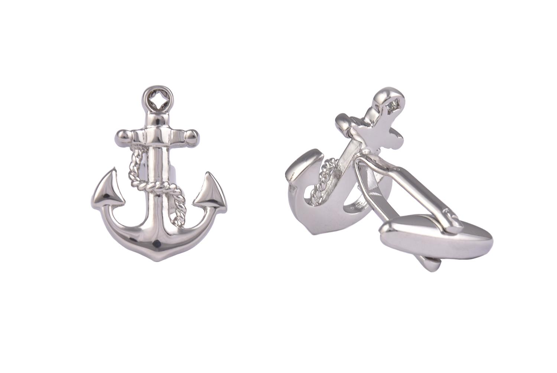 Anchor Silver Cufflinks