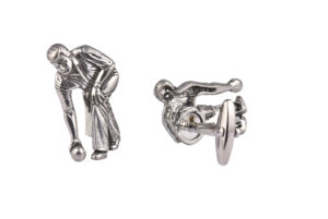 Bowls Player Pewter Cufflinks