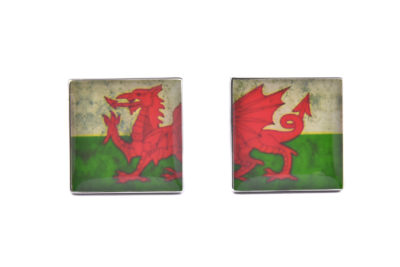 Wales Distressed Flag Cufflinks