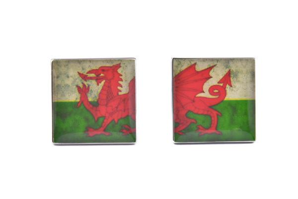 Wales Distressed Flag Cufflinks
