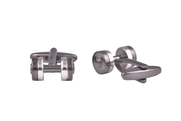 Dumbbell Weights Cufflinks