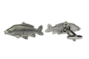 Fish Pewter Carp Cufflinks