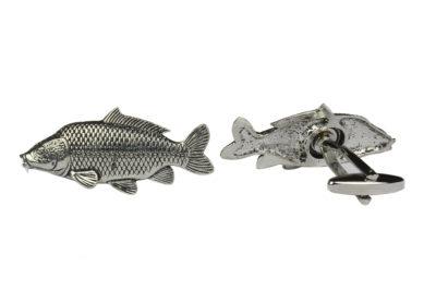 Fish Pewter Carp Cufflinks