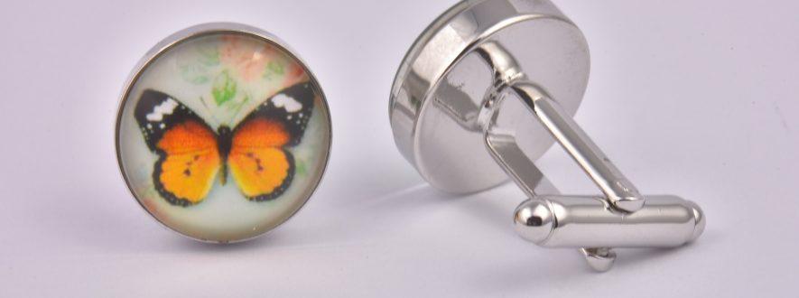 Butterfly Orange Cufflinks