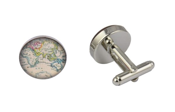 Colourful World Map Cufflinks