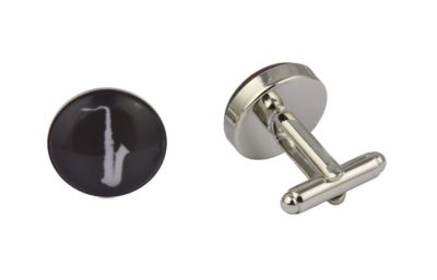 Black Saxophone Cufflinks