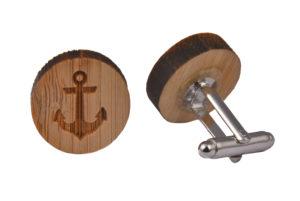 Wooden Anchor Cufflinks