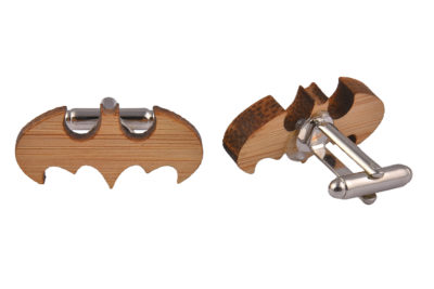 Wooden Bat Shaped Cufflinks